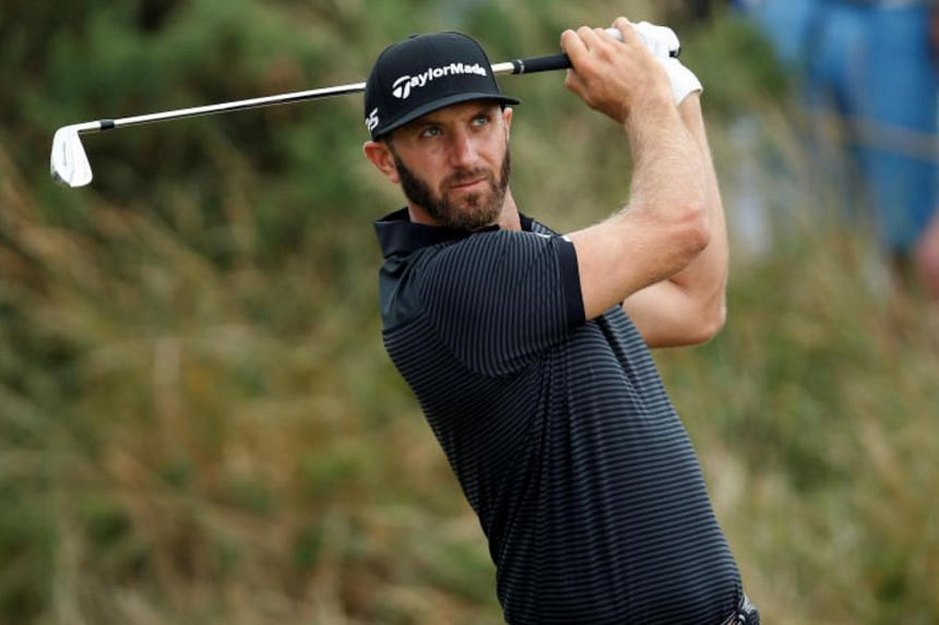 US's Dustin Johnson in action during a practice round at the 146th Open Championship - Royal Birkdale - Southport, Britain, on July 19, 2017.