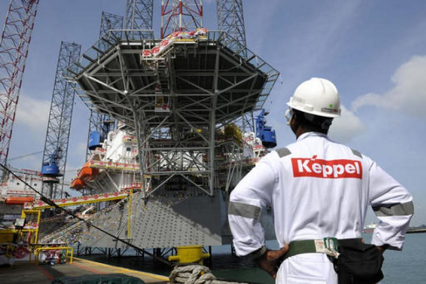 A file picture of the Keppel FELS yard in Singapore. PHOTO: BLOOMBERG