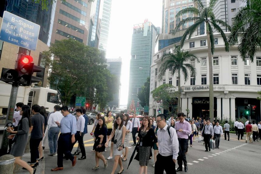 Lunch crowd in the CBD on June 29, 2017.