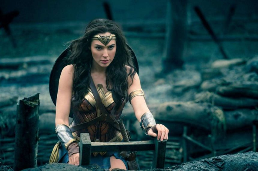 Gal Gadot as Diana in Wonder Woman.