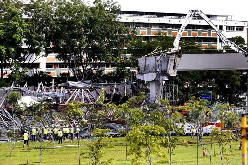 Construction firm Or Kim Peow was casting a section of the viaduct adjacent to a slip road from Upper Changi Road East to the Pan-Island Expressway when it gave way, killing one worker and injuring 10 others on July 14.