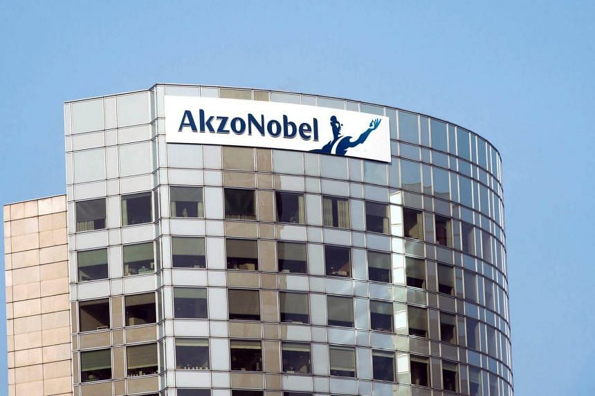 A view of Akzo Nobel's headquarters in Amsterdam, on Feb 6, 2014.