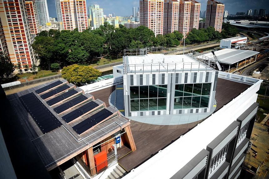 The BCA SkyLab, a rotating rooftop laboratory, was one of 12 winners of the Institution of Engineers Singapore Prestigious Engineering Achievement Awards 2017. In the past year, four types of green technologies were tested at the laboratory.