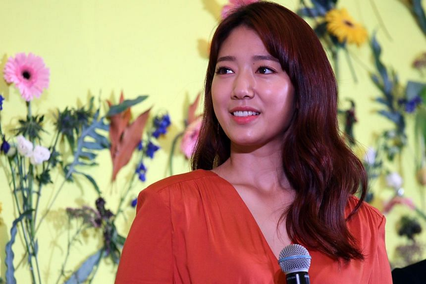 South Korean actress Park Shin Hye at a media conference to promote beauty brand Marmonde held at the W Hotel.