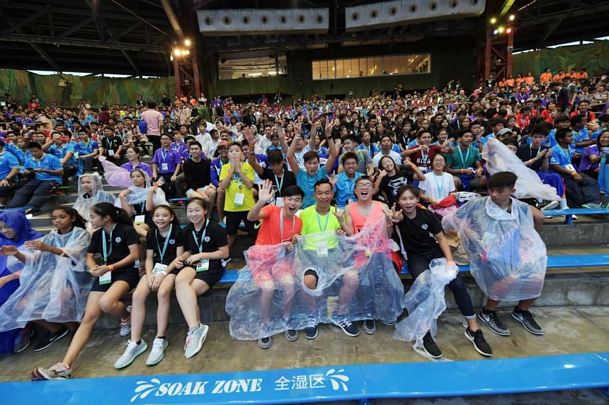 Students at the closing ceremony of the Asean Schools Games at Universal Studios yesterday.