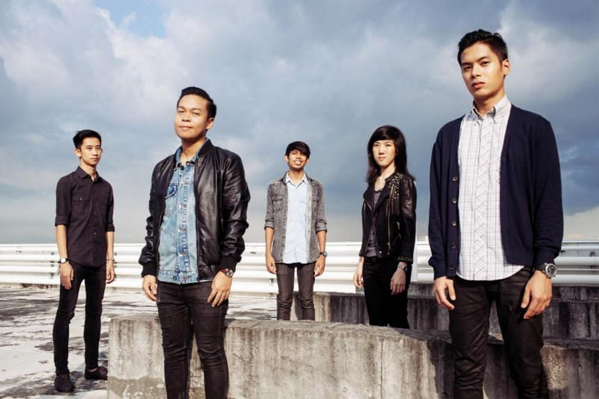 Members of local band group The Summer State (from left) Edwin Waliman, Bryan Ulric Santa Maria, Shaykh Akbar, Victoria Chew and Ritz Ang.