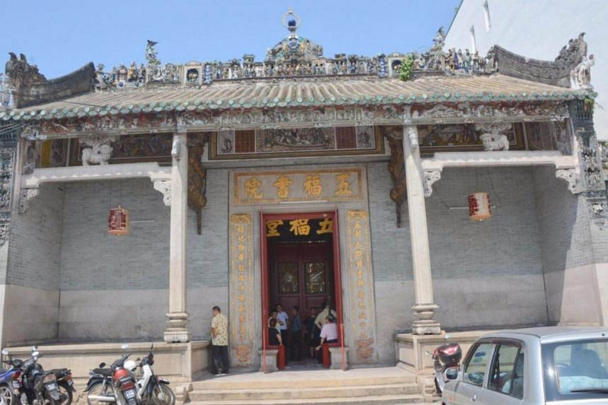 The 119-year-old Ng Fook Thong Temple in Penang is a Category I heritage structure. Strict conservation laws apply to any repairs carried out at the building.