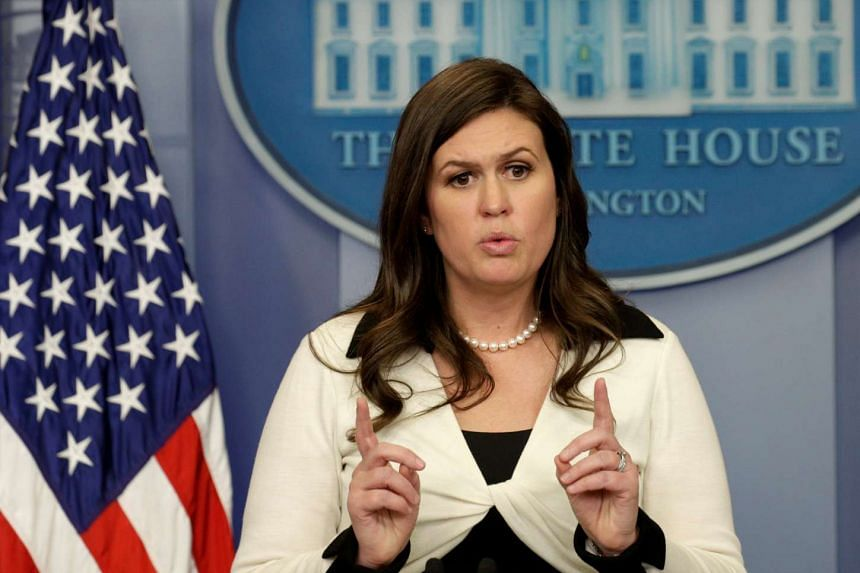 White House spokeswoman Sarah Huckabee Sanders holds a news briefing at the White House in Washington, D.C., US on May 11, 2017.