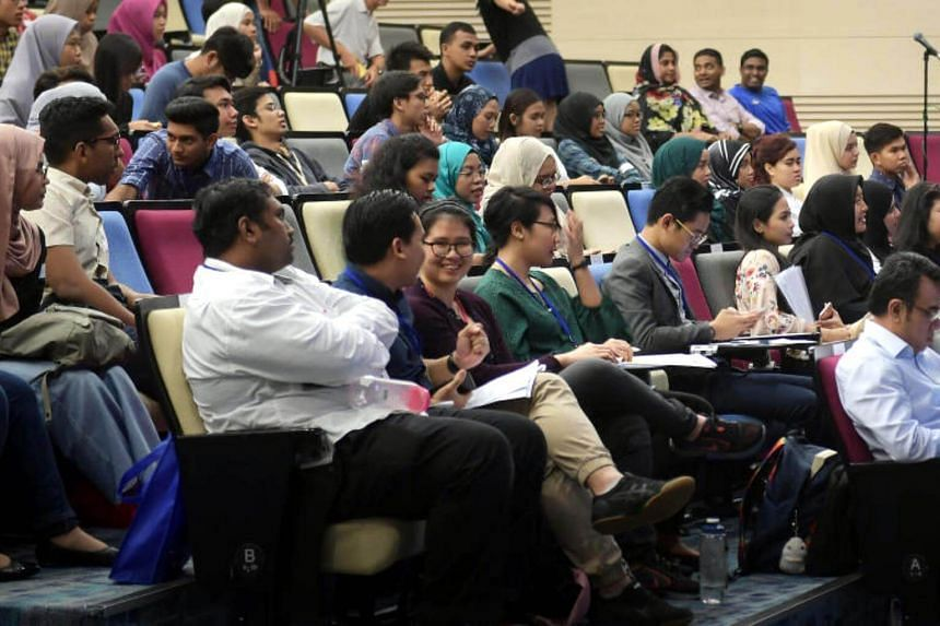 Members of the audience at the Inter-Agency Aftercare Group's annual youth forum at the Temasek Polytechnic on July 22, 2017.