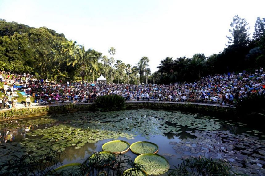 More than 10,000 people turned up for The Straits Times Concert in the Gardens on Sunday (July 22).