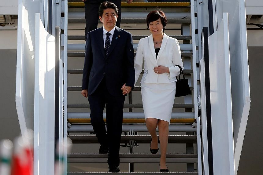 """Japanese Prime Minister Shinzo Abe and his wife Akie were at a G-20 dinner with US President Donald Trump earlier this month. Mr Trump later told a newspaper Mrs Abe spoke no English, not even the word """"hello""""."""