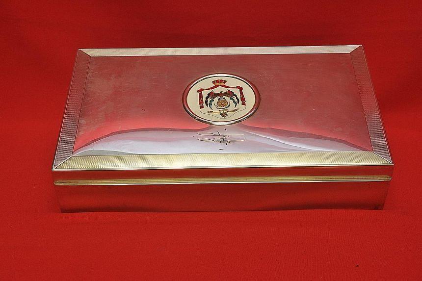 7. Sterling cigarette box