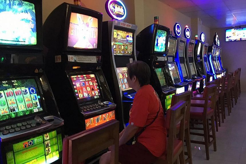 Jackpot machines at Gombak United Football Club. Clubs typically spend between $1 million and $1.2 million a year, with $800,000 from Football Association of Singapore subsidies. The rest is raised through sponsorship and jackpot operations.