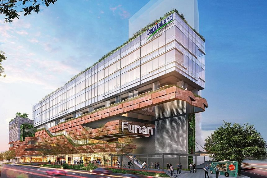 Mr Tony Tan, chief executive of trust manager CapitaLand Mall Trust Management, said 30 per cent of the lease for the retail space at Funan has been committed, two years ahead of the mall's opening at the end of 2019.
