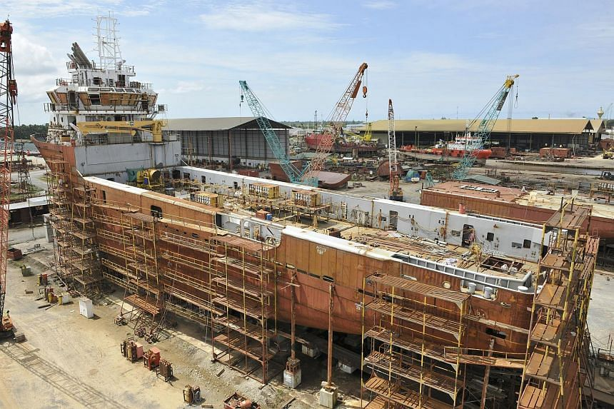 Building of a diesel electric platform supply vessel at Nam Cheong's 12.6-hectare Miri shipyard located in Kuala Baram, Sarawak, Malaysia.