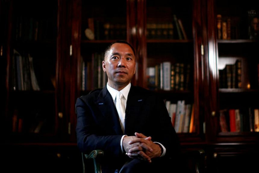 Guo Wengui (above) has accused Chinese housing vice-minister Huang Yan of engaging in graft.