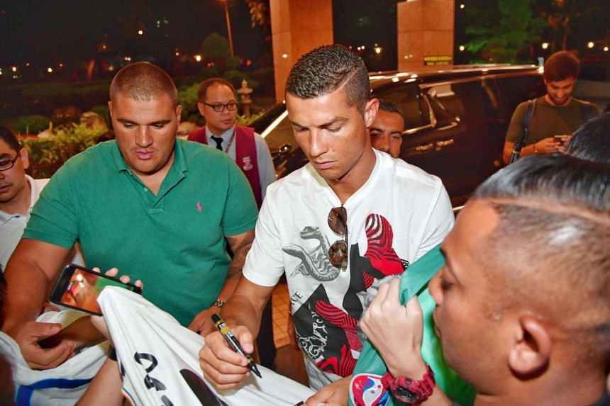 Cristiano Ronaldo at Great World City in Singapore on July 21, 2017.