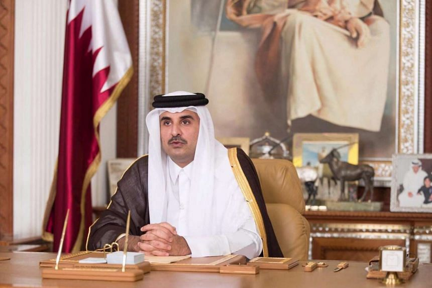 "Sheikh Tamim bin Hamad al-Thani said life was continuing as normal despite what he described as an unjust ""siege""."