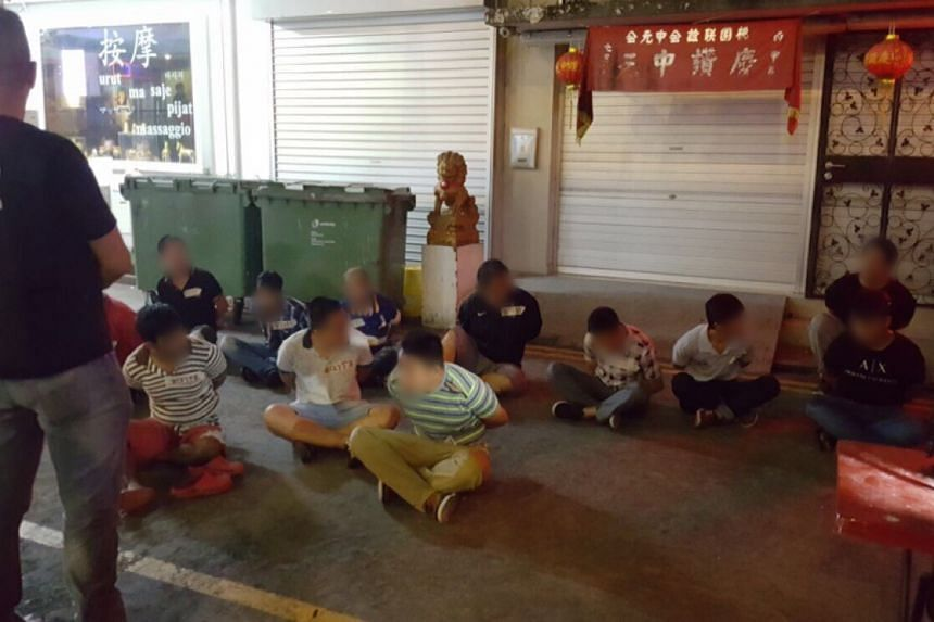 During a three-day raid in Geylang that ended on Friday (July 21), 44 men aged between 17 and 65 were arrested for promoting public gaming and gaming in public, said the police on Sunday (July 23).