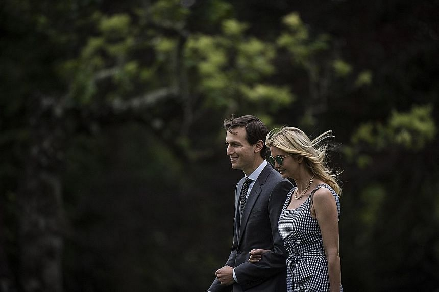 Mr Jared Kushner, seen here with his wife Ivanka Trump, is set to testify tomorrow before the Senate Intelligence Committee. Mr Donald Trump Jr (top) and Mr Paul Manafort (above) are to meet privately with the Senate Judiciary Committee.