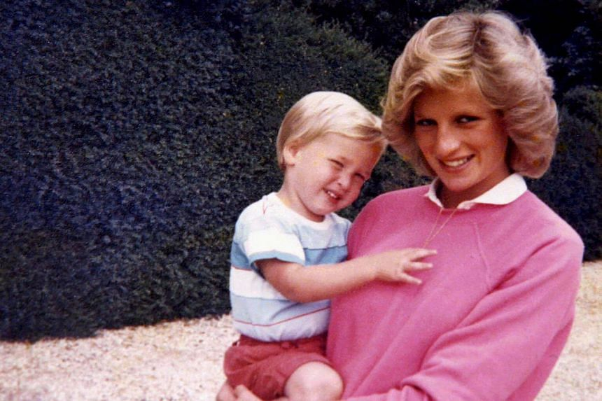 Britain's Prince William, the Duke of Cambridge, and the late Diana, Princess of Wales.