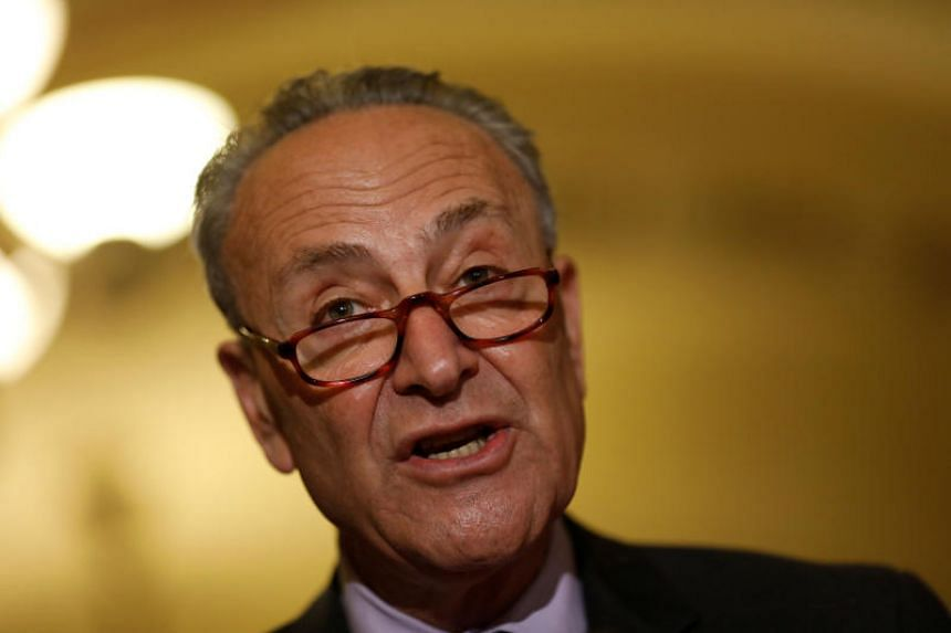 "Senate Democratic leader Chuck Schumer said a strong sanctions bill ""is essential."""
