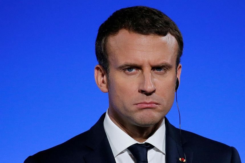 French President Emmanuel Macron went down 10 percentage points this month.
