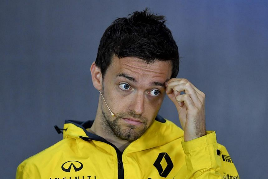 Renault's British driver Jolyon Palmer attends a drivers' press conference at Silverstone motor racing circuit in Silverstone, central England, on July 13, 2017 ahead of the British Formula One Grand Prix.