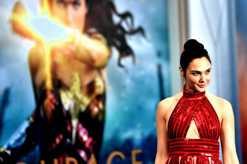 Actress Gal Gadot arrives at the premiere Of Wonder Woman at the Pantages Theatre in Hollywood, California, on May 25, 2017.