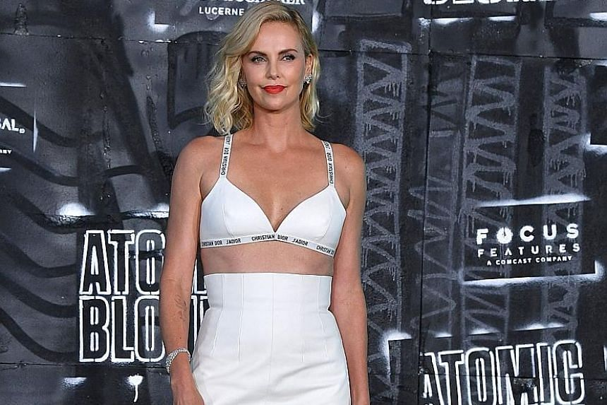 Actress Charlize Theron at the Berlin premiere of Atomic Blonde, in which she plays a tough undercover agent.