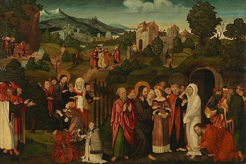 The Raising Of Lazarus, a Renaissance-era painting, was looted by the Nazis and then bought by Hermann Goering, a military leader in Hitler's Germany.