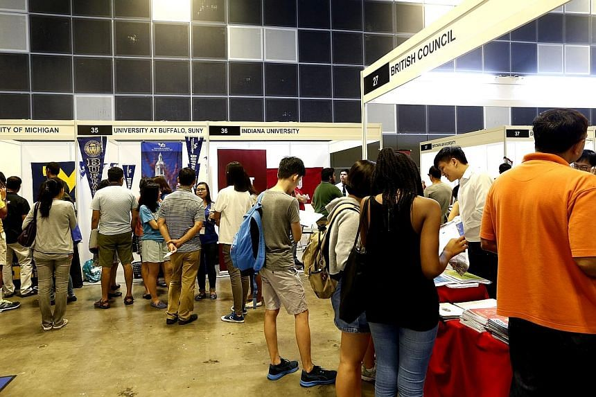 Visitors to the Scholarships and Top Universities Fair, which featured 31 universities from abroad and 10 scholarship boards.