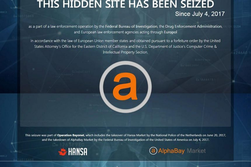 AlphaBay was widely considered the biggest online black market for drugs, estimated to host daily transactions totalling hundreds of thousands of dollars.