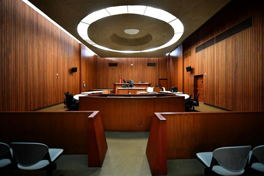 The interior of the State Courts.