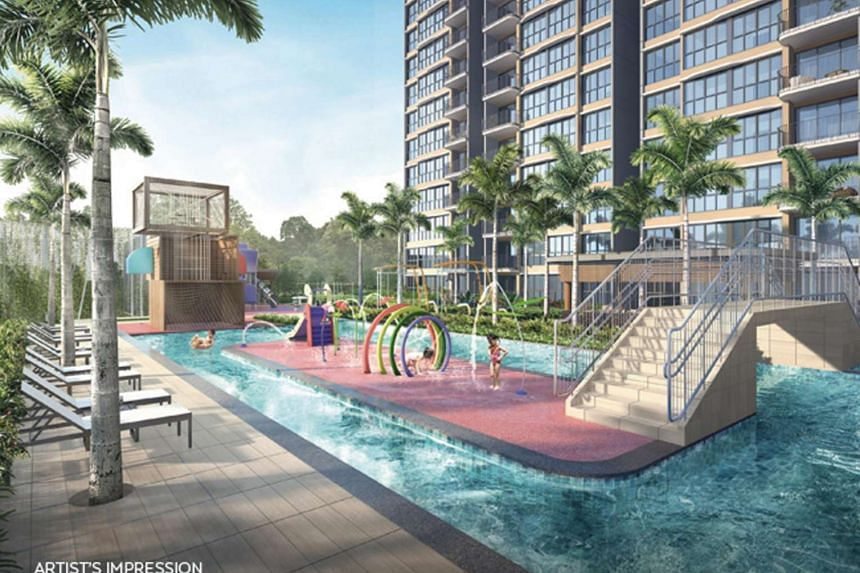 An artist's impression of the 531-unit Hundred Palms Residences, which is developed by Hoi Hup Realty and located in Yio Chu Kang Road.