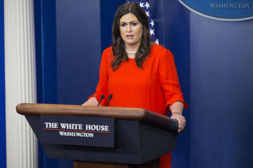 White House press secretary-designate, speaks during a White House press briefing on July 21, 2017.
