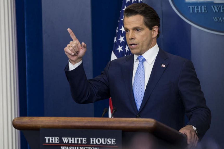 Anthony Scaramucci speaks during a White House press briefing on July 21, 2017