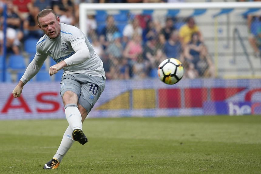 Everton's Wayne Rooney in action during a friendly soccer match between KRC Genk vs FC Everton at Crystal Arena Stadium in Genk, Belgium on July 22, 2017.