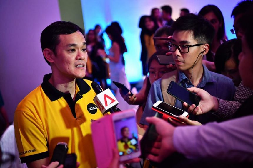 Scoot's Chief Executive Officer Lee Lik Hsin at a media conference on July 25, 2017.