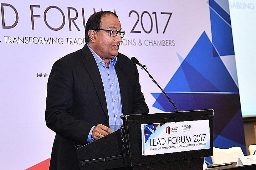Minister for Trade and Industry (Industry) S. Iswaran yesterday also announced a call for proposals for trade associations and chambers to work together.