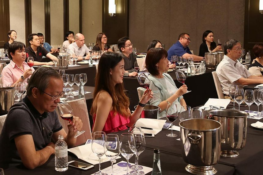 Participants at the masterclass were taught wine terminology and how to identify a wine which has ageing potential.