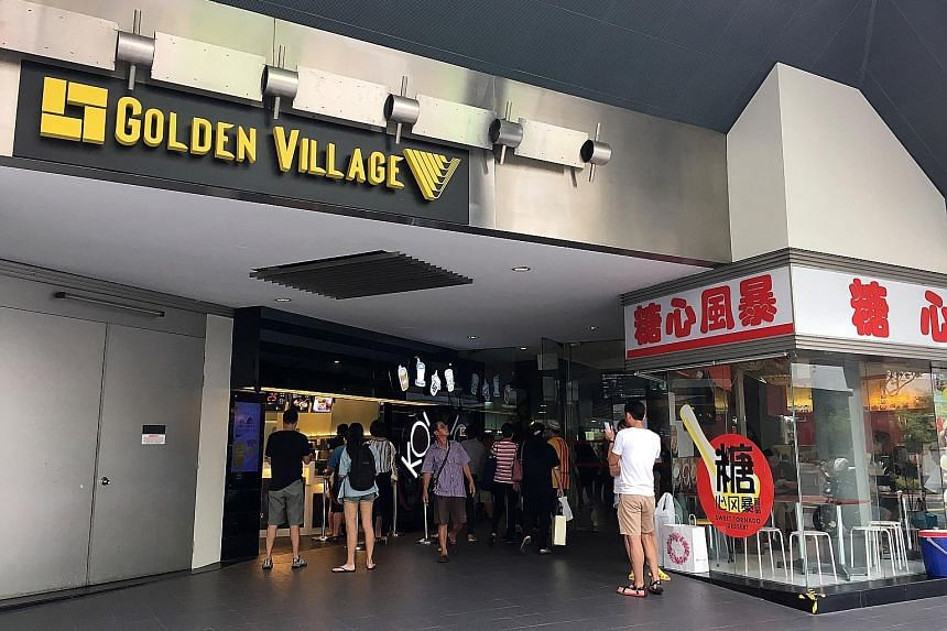 Golden Village is Singapore's largest cinema chain with 92 screens across 11 cineplexes, and a 12th is set to open later this year. It commands about 40 per cent of box office revenue here.