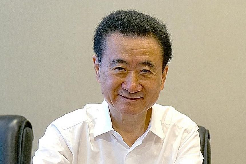 Mr Wang Jianlin, the conglomerate built theme parks and bought hotels under its cultural tourism project.