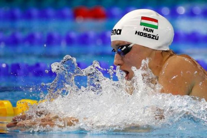 Katinka Hosszu of Hungary competes in the 200m Individual Medley final on day five of the 13th FINA World Swimming Championships (25m) at the WFCU Centre on Dec 10, 2016 in Windsor Ontario, Canada.