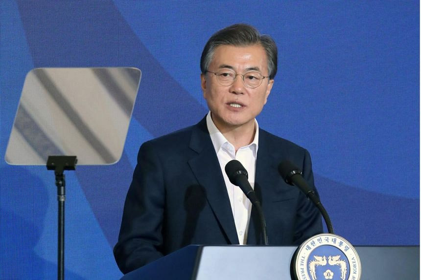 South Korean President Moon Jae In pledged to achieve reconciliation and peace on the Korean Peninsula.