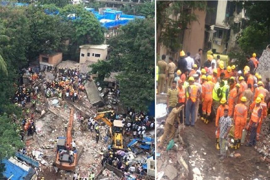 About 30 to 40 people are suspected to be trapped in the rubble.