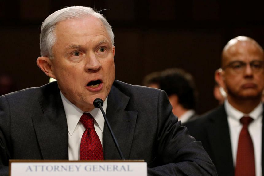 US Attorney General Jeff Sessions testifies before a Senate Intelligence Committee hearing on Capitol Hill in Washington, US on June 13, 2017.