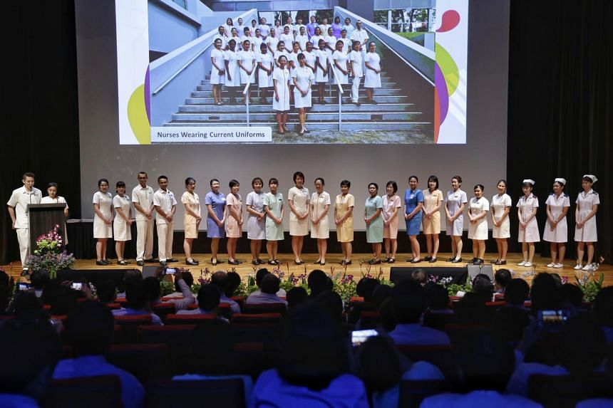 Nurses parading in old uniforms at its annual Nurses' Day celebrations at Academia on July 25, 2017.