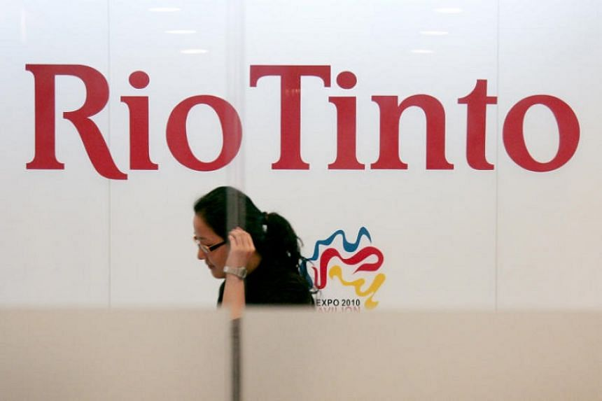A staff member at the Rio Tinto Group office in Shanghai, China, in a March 2010 file photo.