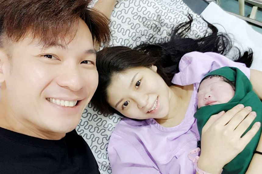 Mediacorp actor Shaun Chen, 38, welcomed the birth of his second daughter on July 25 in Alor Setar. PHOTO: THE CELEBRITY AGENCY